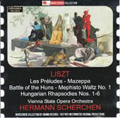 Franz Liszt: Les Preludes; Mazeppa Battle of the Huns; Mephisto Waltz No. 1, Hungarian Rhapsodies 1-6 / Scherchen (rec. 1957-1960)