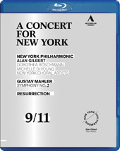 A Concert for New York: Mahler / Glibert, Roschmann, DeYoung [Blu-Ray]