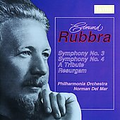 Rubbra: Symphony no 3, etc / Del Mar, Philharmonia