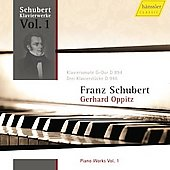 Schubert: Piano Works Vol 1 / Oppitz