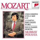 Mozart: 3 Concertos K 107; Schröter / Perahia, English CO