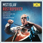Mstislav Rostropovich - Complete Recordings on Deutsche Grammophon; Works by Tchaikovsky, Boccherini, Vivaldi, Beethoven, Messiaen, et al. / Mstislav Rostropovich, cello; various artists, conductors, and orchestras [37 CDs]