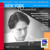 Mozart - The Bicentennial Program / Levin, et al