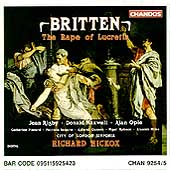Britten: The Rape of Lucretia / Hickox, Rigby, Maxwell, Opie