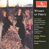 Women of Firsts - Kapr&aacute;lov&aacute;, Bacewicz, Beach, Boulanger / Daniel Weeks, Naomi Oliphant
