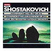 Shostakovich: Symphonies 1 & 6 / J&auml;rvi, Scottish Natl Orch