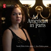 An American in Paris - Poulenc, Ives, Gershwin, Ravel / Tamsin Waley-Cohen; Huw Watkins