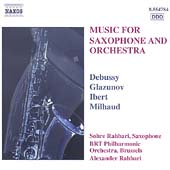 Music for Saxophone and Orchestra - Debussy, Glazunov, et al