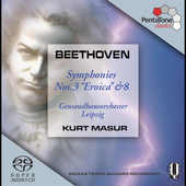Beethoven: Symphonies no 3 & 8 / Masur, et al