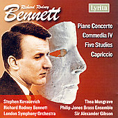 Bennett: Piano Concerto, 5 Studies for Piano, etc