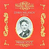 Prima Voce - Zinka Milanov in Recital - Schumann, Brahms, etc / Milanov, Kunc et al
