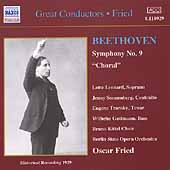 Great Conductors - Oscar Fried - Beethoven: Symphony no 9