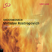 Shostakovich: Symphony no 5 / Rostropovich, London SO