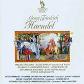 Handel: Organ Concerto; Concertos & Suites for Mixed Instruments / Helmut Rilling, organ, Alois Spach, Gottlieb Roth, horns; Heinz Zickler, trumpet; Reinhold Buhl, cello et al.; Mainz CO; Günter Kehr et al.