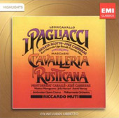 Leoncavallo: I Pagliacci; Mascagni: Cavalleria Rusticana [Highlights] / Scotto, Carreras, Nurmela, Benelli