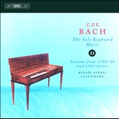 C.P.E. Bach: The Solo Keyboard Music, Vol. 23 /  Miklós Spányi, clavichord