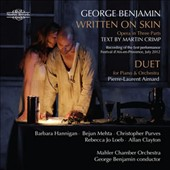 George Benjamin: Written on Skin, opera / Purves, Hannigan, Mehta, Loeb, Clayton; Pierre-Laurent Aimard: piano