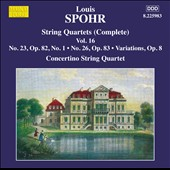 Louis Spohr: Complete String Quartets, Vol. 16 - Nos. 23 & 26 / Moscow Concertino Quartet