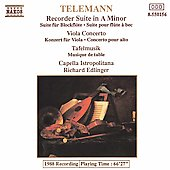 Telemann: Recorder Suite, Viola Concerto, etc / Edlinger