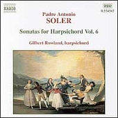 Soler: Sonatas for Harpsichord Vol 6 / Gilbert Rowland