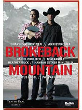 Charles Wuorinen: Brokeback Mountain, opera (Libretto: Annie Proulx) / Okulitch, Randle, Buck et al.; Madrid Royal Theater; Engel [DVD]