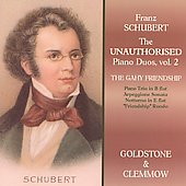 Schubert: Unauthorized Piano Duos Vol 2 / Goldstone, Clemmow