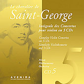 Le Chevalier de Saint-Georges: Violin Concertos Vol 5