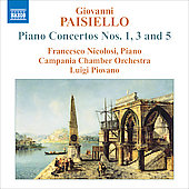 Paisiello: Piano Concertos no 1, 3 & 5