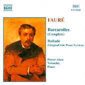 Faure: Barcarolles, Ballade / Pierre-Alain Volondat