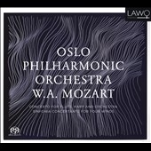 W.A. Mozart: Concerto for Flute, Harp and Orchestra; Sinfonia Concertante for Four Winds