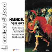 Handel: Giulio Cesare (Excerpts) / Jacobs, Larmore, et al