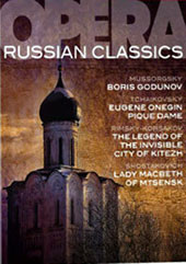 Russian Opera Classics - Mussorgsky: Boris Godunov; Tchaikovsky: Eugene Onegin; Pique Dame; Rimisky-Korsakov: Legend of the Invisible City of Kitezh; Shostakovich: Lady Macbeth of Mtsensk [8 DVD]