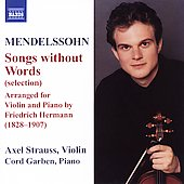 Mendelssohn: Songs without Words / Strauss, Garben