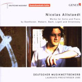 Works for Cello and Piano by Beethoven, Webern, Bach, Ligeti and Stravinsky / Nicolas Sltstaedt, cello; Francesco Plemontesi, piano