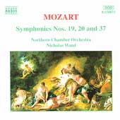 Mozart: Symphonies nos 19, 20 & 37 / Ward, Northern CO