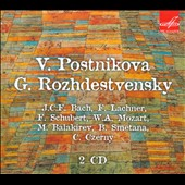Postnikova, Rozhdestvensky play C.P.E. Bach, Lachner, Schubert, Mozart, Balakirev, Smetana, Czerny