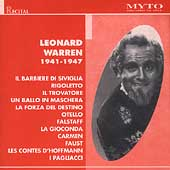 Historical - Leonard Warren - Recital 1941-1947
