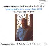 Jakob Gimpel at Ambassador Auditorium Vol 2 - Chopin, et al