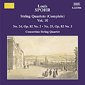Spohr: String Quartets Vol 10 / Concertino String Quartet