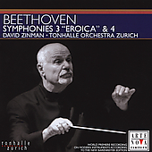 Beethoven: Symphonies no 3 & 4 / Zinman, Tonhalle Orchester