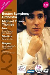 Charles Ives: Three Places in New England; Sibelius: Symphony no 4; Wagner: Dawn and Siegfried's Rhine Journey / Boston SO, Tilson Thomas (live, 1970) [DVD]