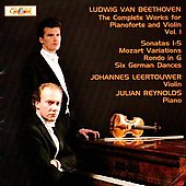 Beethoven: Complete Works for Pianoforte and Violin Vol 1