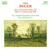 Reger: Mozart Variations, Hiller Variations / Decker