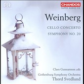 Mieczyslaw Weinberg: Cello Concerto; Symphony No. 20 / Claes Gunnarsson, cello