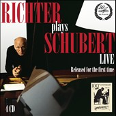 Richter Plays Schubert Live (1970): Piano Sonatas (7); Encore pieces / Sviatoslav Richter, piano [4 CDs]