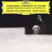 Stravinsky: Symphony of Psalms, etc / Boulez, Berlin PO