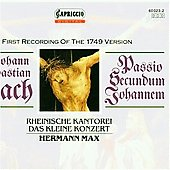 Bach: St John Passion / Max, Pr&eacute;gardien, Wimmer