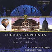 Haydn: London Symphonies no 95, 103 & 104 / Hickox, et al