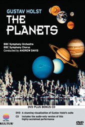 Holst: The Planets - A visualization / Andrew Davis/BBC SO & Chorus (DVD & CD) [DVD]