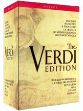 The Verdi Edition - 12 Great Operas / Gavanelli, Alvarez, Schaefer, Cura, Hvorostovsky, Fleming, Hampson [17 DVD]